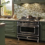 Bertazzoni Heritage NE Range w Wood-Mode Cabinets