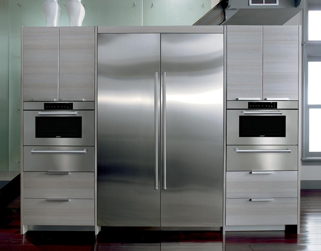 Sub Zero Dual 30Inch Column Refrigerator and Freezer